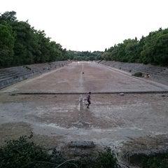 Photo taken at Αρχαίο Στάδιο (Ancient Stadium) by Emir Ö. on 8/18/2015
