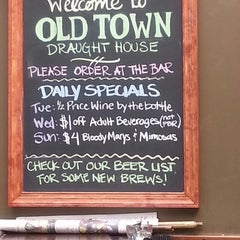 Photo taken at Old Town Draught House by Steve M. on 4/6/2013