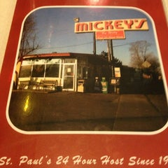 Photo taken at Mickey's Diner by Tina V. on 12/26/2012