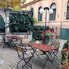Photo taken at Remíz Kávéház és Söröző by Cristina L. on 10/10/2013