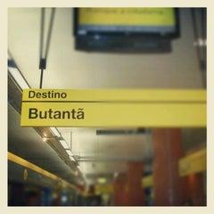 Photo taken at Estação Butantã (Metrô) by Oswaldo M. on 6/1/2013