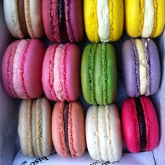 Photo taken at Bisous Ciao Macarons by Lindsay O. on 3/14/2011