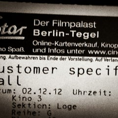 Photo taken at CineStar Tegel by Annika W. on 12/2/2012
