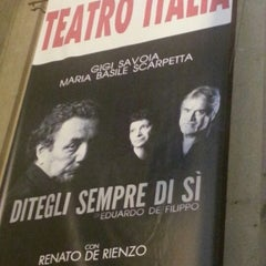 Photo taken at Teatro Italia by Raffaele on 10/19/2012