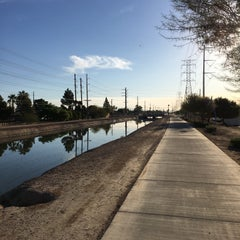 Photo taken at Tempe Canal @ Guadalupe Rd by Marc L. on 3/5/2016