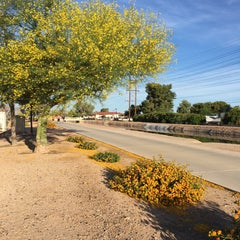 Photo taken at Tempe Canal @ Guadalupe Rd by Marc L. on 4/23/2016