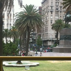 Photo taken at Plaza Independencia by Camila N. on 2/19/2013