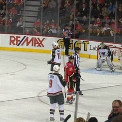 Photo taken at Scotiabank Saddledome by Hailey-Kathryn on 4/16/2013
