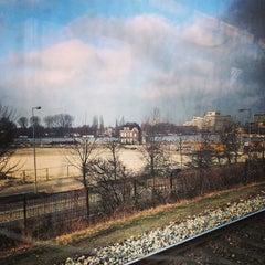 Photo taken at Metrostation Spaklerweg by Lieven on 1/29/2014