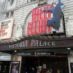 Photo taken at Victoria Palace Theatre by Frank D. on 2/23/2013