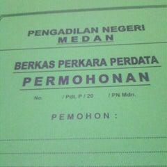 Photo taken at Pengadilan Negeri Medan by Anggi P. on 4/25/2013