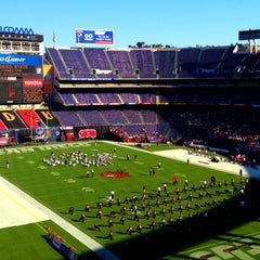 Photo taken at Qualcomm Stadium by Jenny R. on 9/16/2012