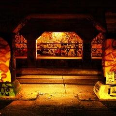 Photo taken at Krog Street Tunnel by Jinny K. on 12/29/2012