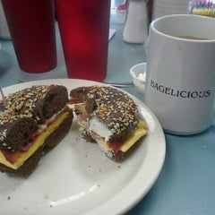 Photo taken at Bagelicious by Dee F. on 12/10/2012