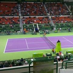 Photo taken at Khalifa International Tennis & Squash Complex by Chirawan P. on 1/2/2013