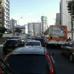 Photo taken at Avenida Bernardo Vieira de Melo by Cínthya K. on 3/13/2013