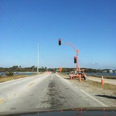 Photo taken at Harkers Island Draw Bridge by Lisa on 11/29/2012