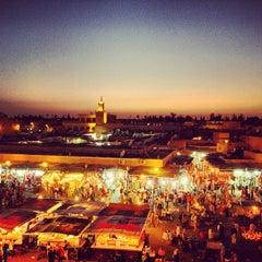 Photo taken at Place Jemaa el-Fna | ساحة جامع الفناء by Daniel on 6/23/2013
