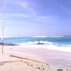 Photo taken at Pantai Pandawa (Pandawa Beach) by Sergey V. on 4/28/2013