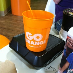 Photo taken at Orange Leaf Frozen Yogurt by Marsha R. on 9/3/2013