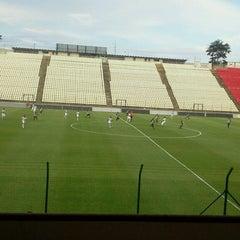 Photo taken at Estádio Joaquim Henrique Nogueira (Arena do Jacaré) - Democrata Futebol Clube by Paulo N. on 3/23/2013