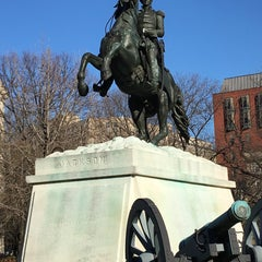 Photo taken at Andrew Jackson Statue by Jarod G. on 1/3/2016