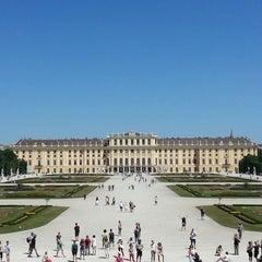 Photo taken at Schloss Schönbrunn by Safak C. on 7/21/2013