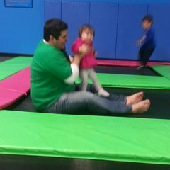 Photo taken at Bounce Trampoline Sports by Victoria Z. on 2/7/2013