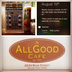 Photo taken at All Good Cafe by John S. on 8/19/2014