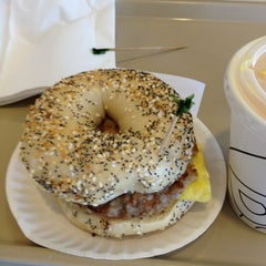 Photo taken at Bodo's Bagels by Brad on 5/25/2013