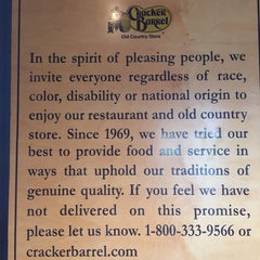 Photo taken at Cracker Barrel Old Country Store by carolyn w. on 10/12/2014