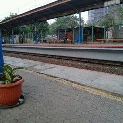 Photo taken at Stasiun Pondok Cina by Aliy N. on 9/24/2012