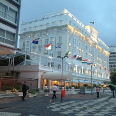 Photo taken at Belmond Copacabana Palace by Richard E. on 3/18/2013