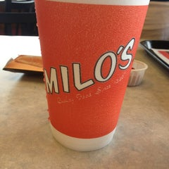 Photo taken at Milo's Hamburgers by Meredith on 7/4/2013