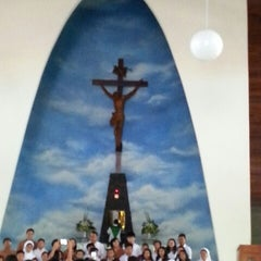Photo taken at Gereja Katolik Roh Kudus by Yani T. on 10/26/2014