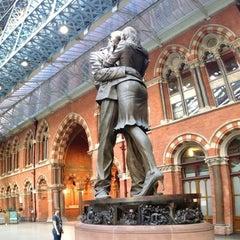 Photo taken at London St Pancras International Railway Station (STP) by Angeline E. on 7/13/2013