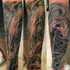 Photo taken at Remington Tattoo by Terry on 9/26/2013