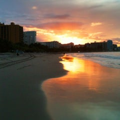 Photo taken at Isla Verde Beach - Balneario Isla Verde (La Playa) by Susan S. on 10/18/2012