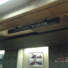Photo taken at 24th St. Mission BART Station by Danny H. on 11/10/2012