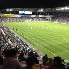 Photo taken at Sporting Park by Banu on 9/15/2012