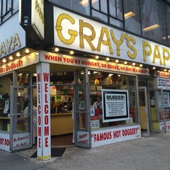 Photo taken at Gray's Papaya by Tania on 5/22/2015