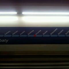 Photo taken at Metro Ursynów by Marcin L. on 1/15/2013