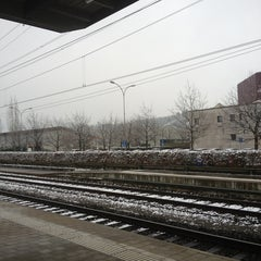 Photo taken at Bahnhof Rotkreuz by Vicky L. on 1/14/2013