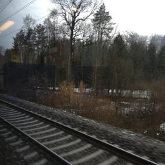 Photo taken at Bahnhof Rotkreuz by Vicky L. on 1/28/2013