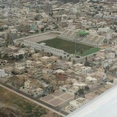 Photo taken at Stade Slaheddine Bey (CSHL) by Ahmed M. on 8/16/2015