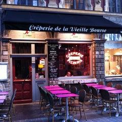 Photo taken at La Crêperie de la Vieille Bourse by Thomas G. on 10/19/2011