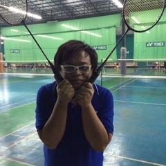 Photo taken at CC Badminton Court by warlordped r. on 1/3/2014