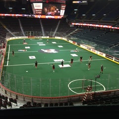 Photo taken at Scotiabank Saddledome by Kevin O. on 1/20/2013