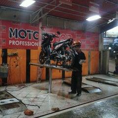 Photo taken at MOTORSTOP-Professional Motor Service by Rizki K. on 10/9/2013