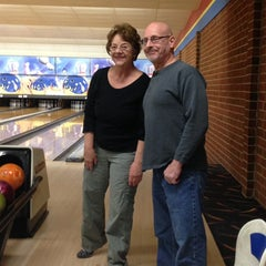 Photo taken at Buffaloe Lanes North Bowling Center by Heather H. on 3/27/2014